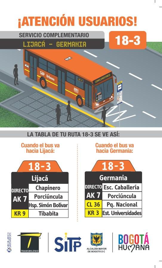 Nuevo Servicio Complementario 18-3 Carrera 7 - Tibabita