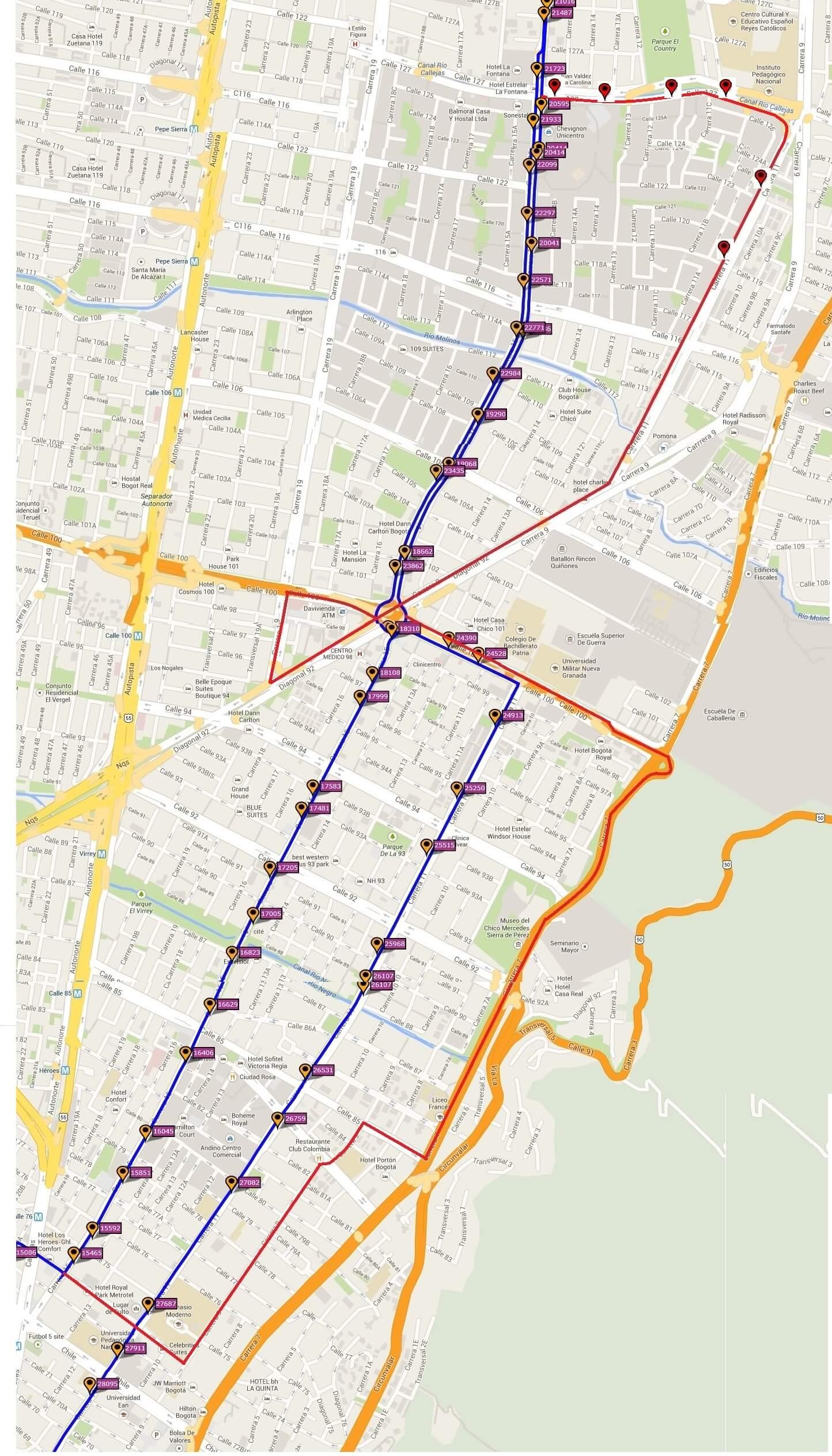 Ruta SITP: 466 Sabana del Dorado ↔ Unicentro [Urbana] 6