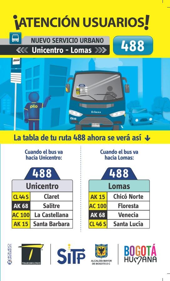 Nueva Ruta Urbana 488 Unicentro - Lomas