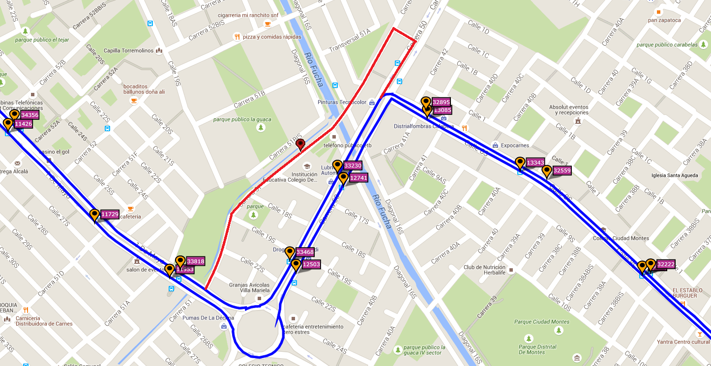 Ruta SITP: 496 Charles de Gaulle ↔ Germania [Urbana] 3