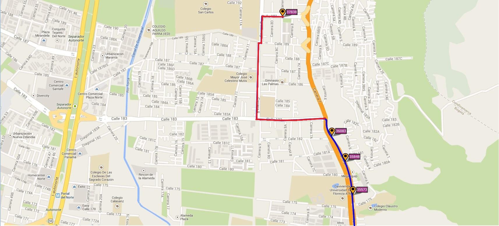 Ruta SITP: 782 Bosa, San José ↔ Lijacá [Urbana] 4