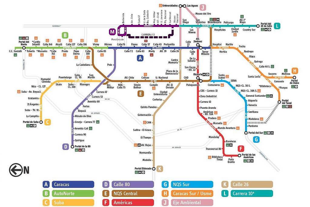 Mapa Transmilenio Y Bus Dual Mirutafacil