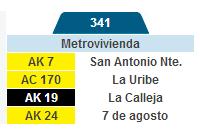 Inicia completa la ruta 341: Metrovivienda - La Estrellita 1