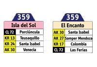 Nueva ruta SITP urbana 359 - Isla del Sol - Encanto 1