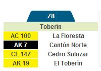Nueva ruta urbana Z8 Toberín - Metrovivienda 1