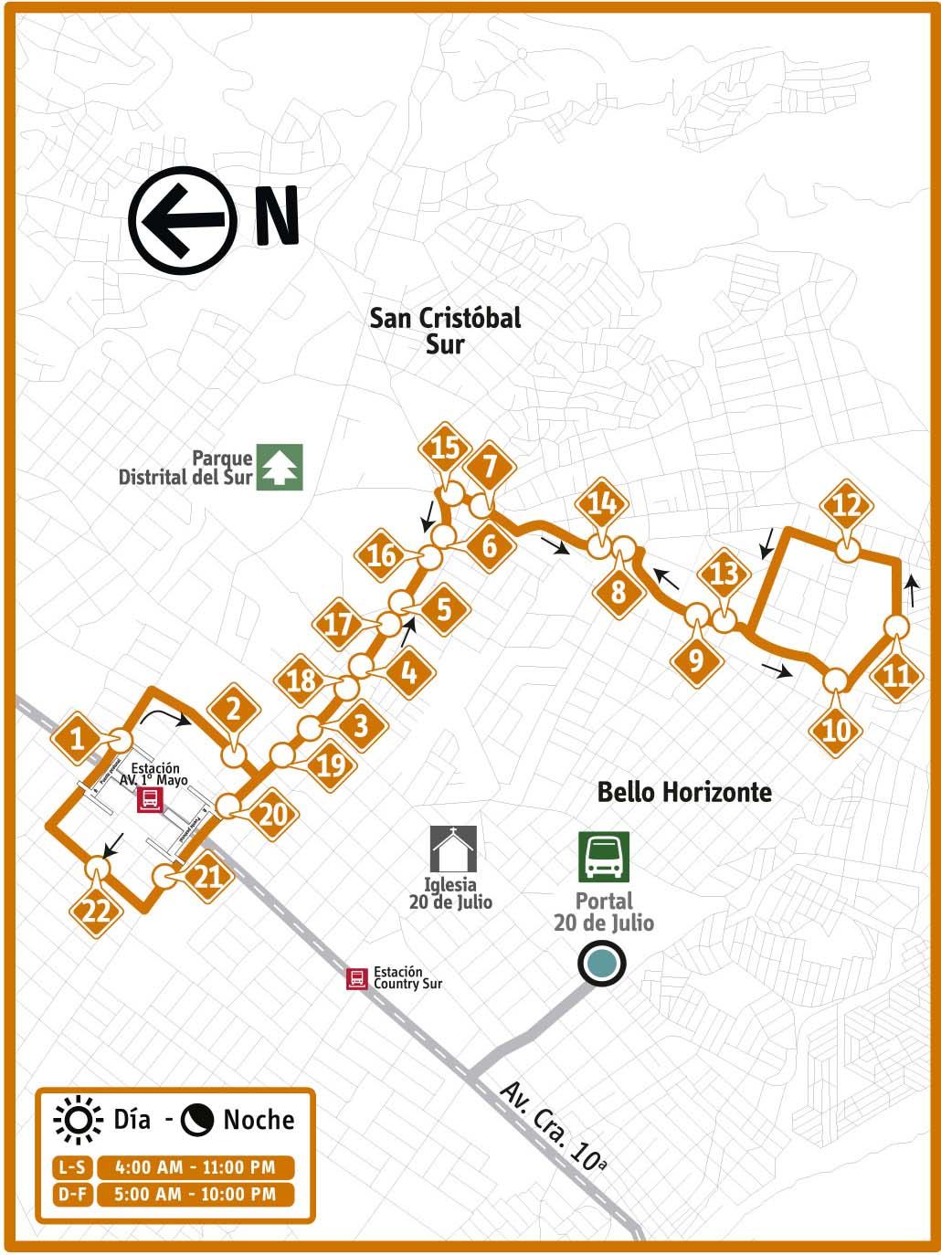 Ruta SITP: 15-3 Horacio Orjuela [Complementaria] 2