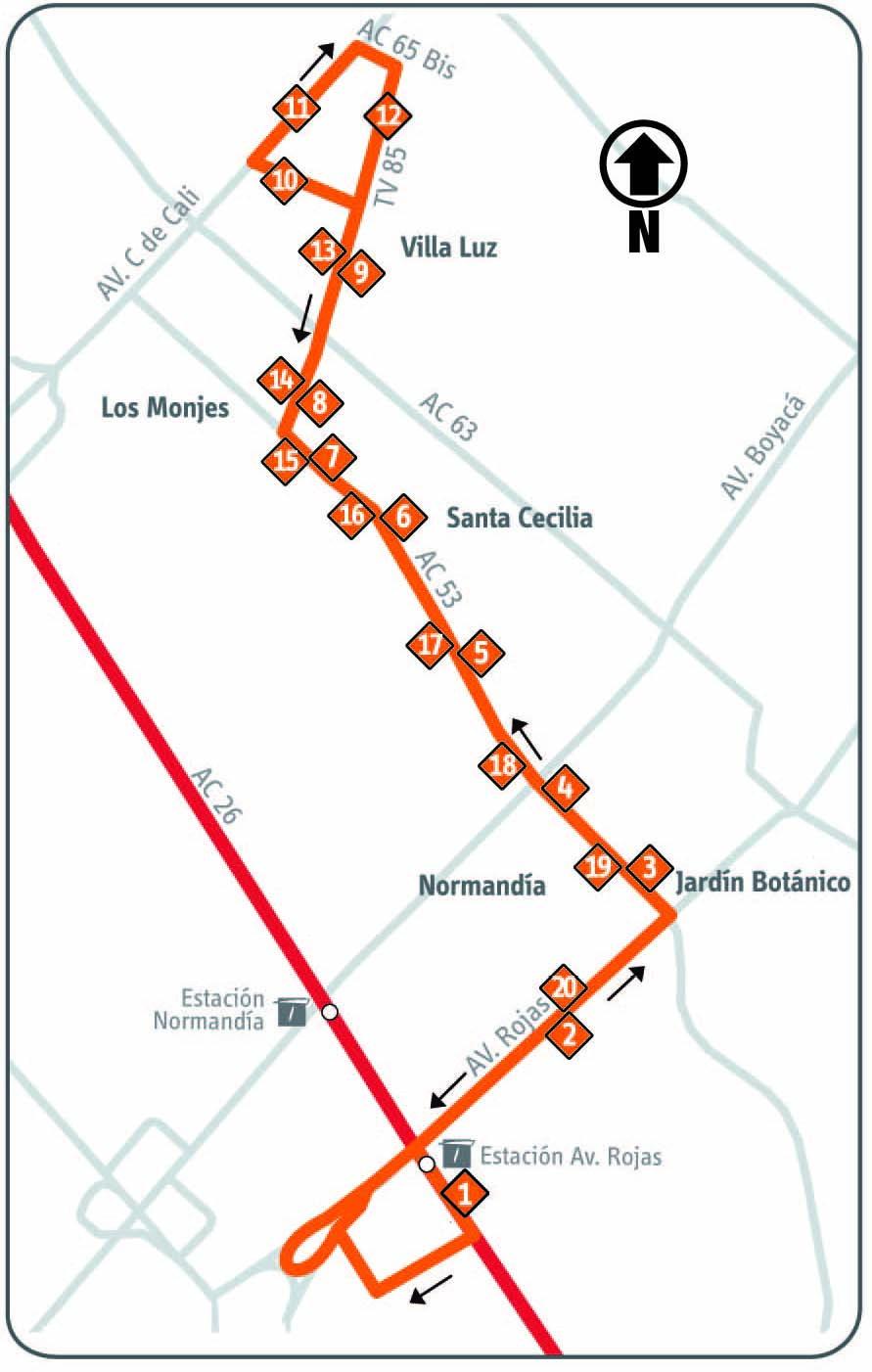 Ruta SITP: 17-1 Villa Luz [Complementaria] 1