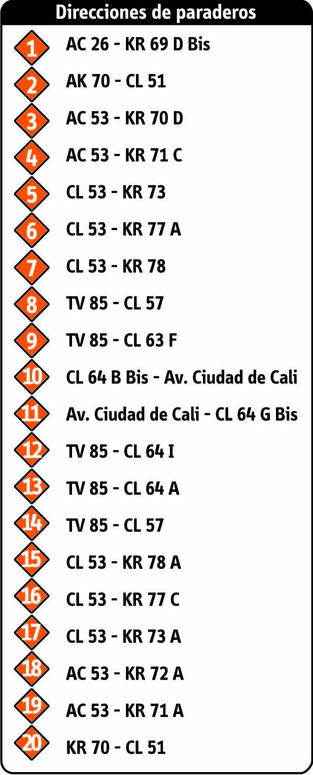 Ruta SITP: 17-1 Villa Luz [Complementaria] 2