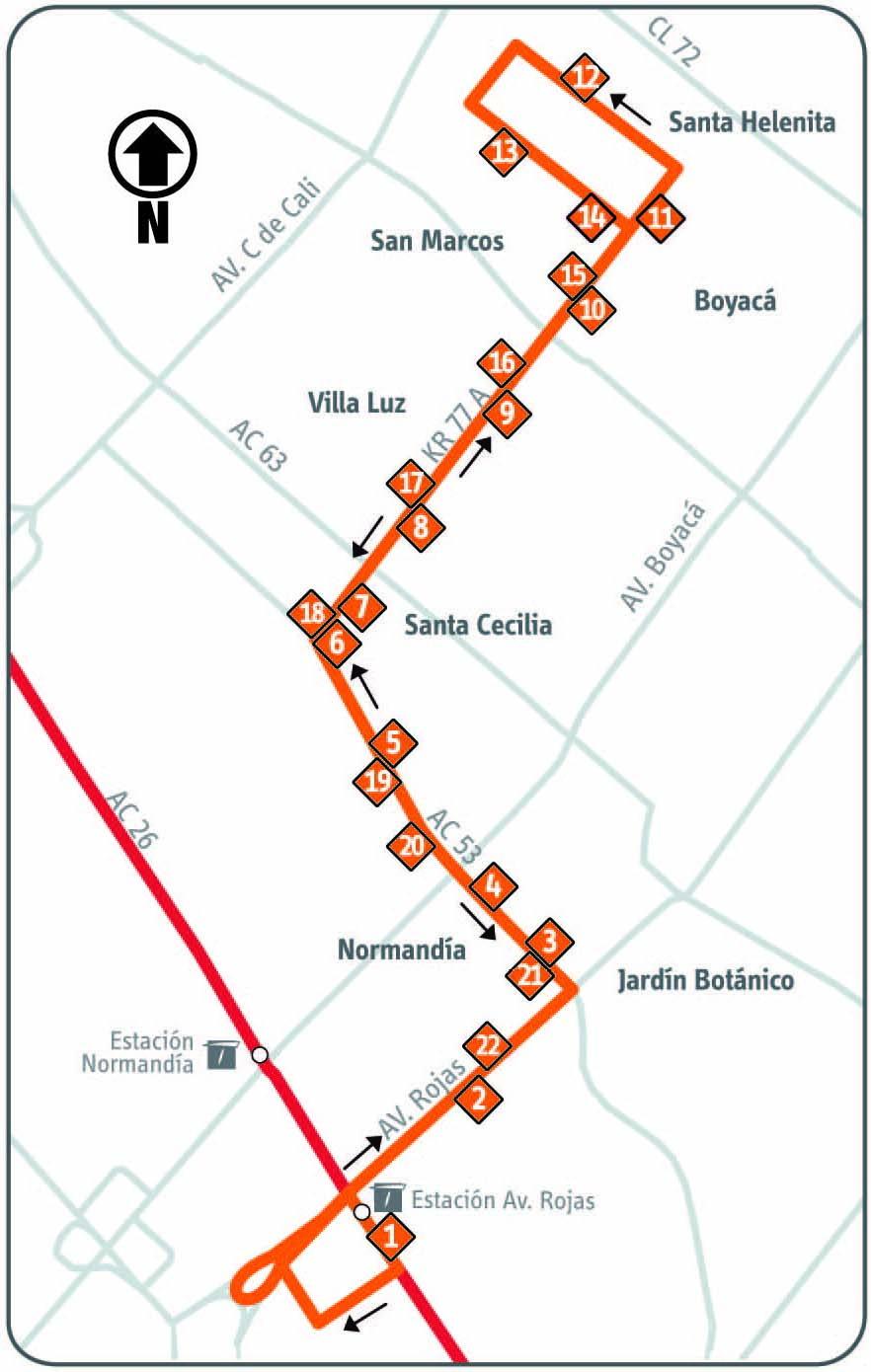 Ruta SITP: 17-2 Santa Helenita [Complementaria] 1