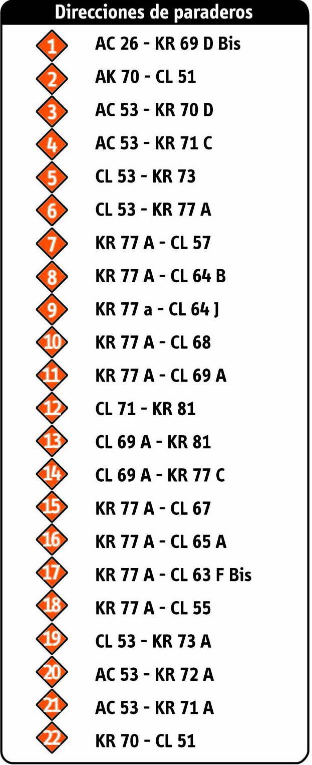 Ruta SITP: 17-2 Santa Helenita [Complementaria] 2