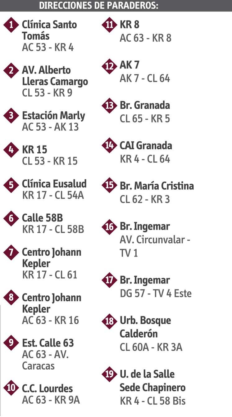 Ruta SITP: 18-8 Bosque Calderón [Especial] 1