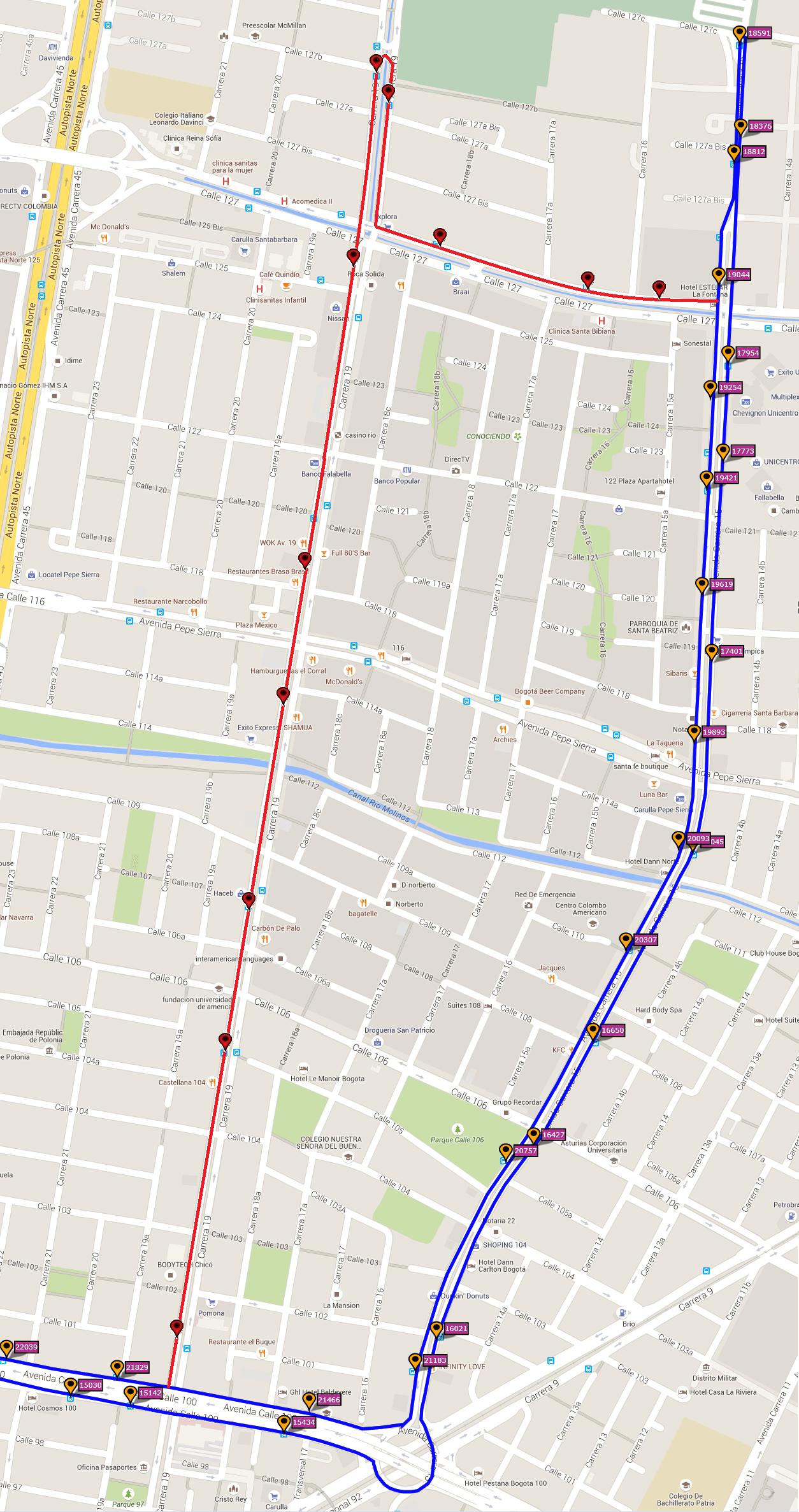 Ruta SITP: 200 Unicentro ↔ Puente Grande [Urbana] 5