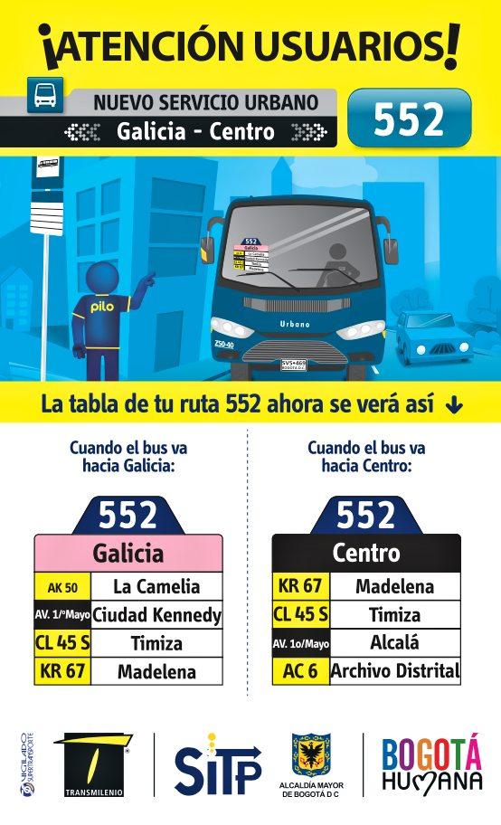 Nueva ruta ruta 552 Galicia - Centro