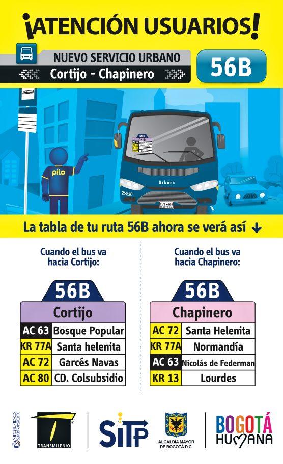 Nueva ruta 56B inicia el día de hoy