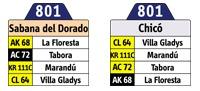 Inicia oficialmente la ruta 801 Sabana del Dorado - Torca 1