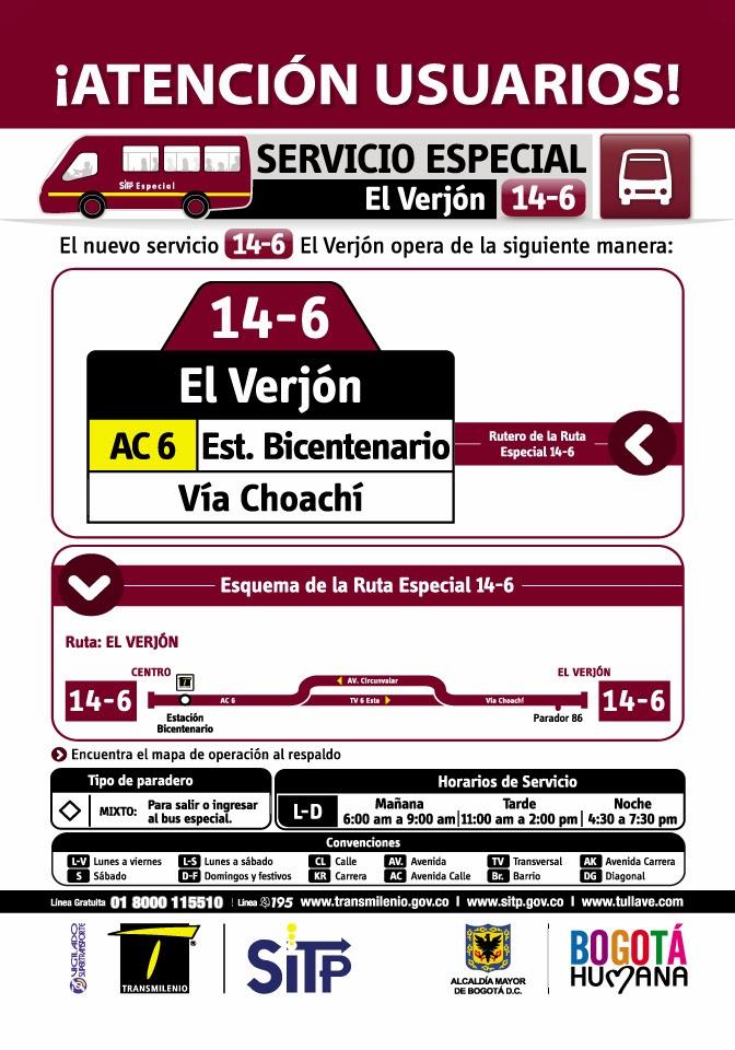 RUTA ESPECIAL 14-6 EL VERJÓN