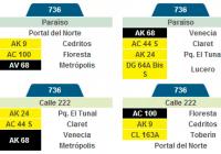 Inicia la ruta 736 del SITP, hará recorrido entre Paraíso y Calle 222