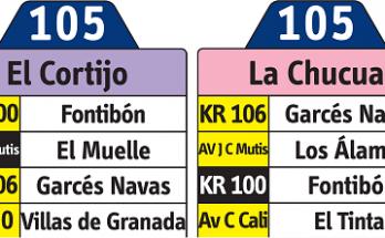 Ruta 105 La Chucua - El Cortijo (no anunciada oficialmente) 1