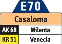 E70 Casaloma - El salitre (nueva ruta urbana, no anunciada oficialmente) 1