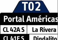 T02 - nueva ruta temporal Villa Alexandra - Portal Américas (con sólo 4 buses)