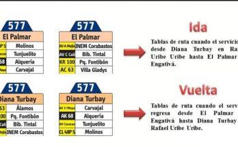 Anunciada oficilamente ruta Urbana 577 El Palmar - Diana Turbay