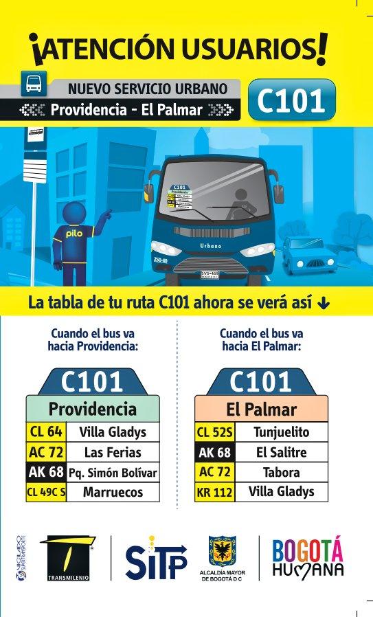 C101 - nueva ruta urbana (extraoficial)