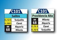 C101 - nueva ruta urbana (extraoficial) 1