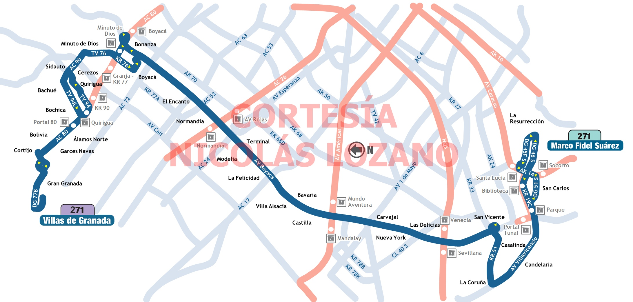Mapa Esquemático Ruta 271