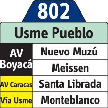 Después de aplazada inició a operar la ruta 802