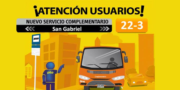 Ruta Complementaria 22-3 San Gabriel