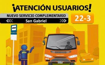 Anunciada la ruta Complementaria 22-3 San Gabriel