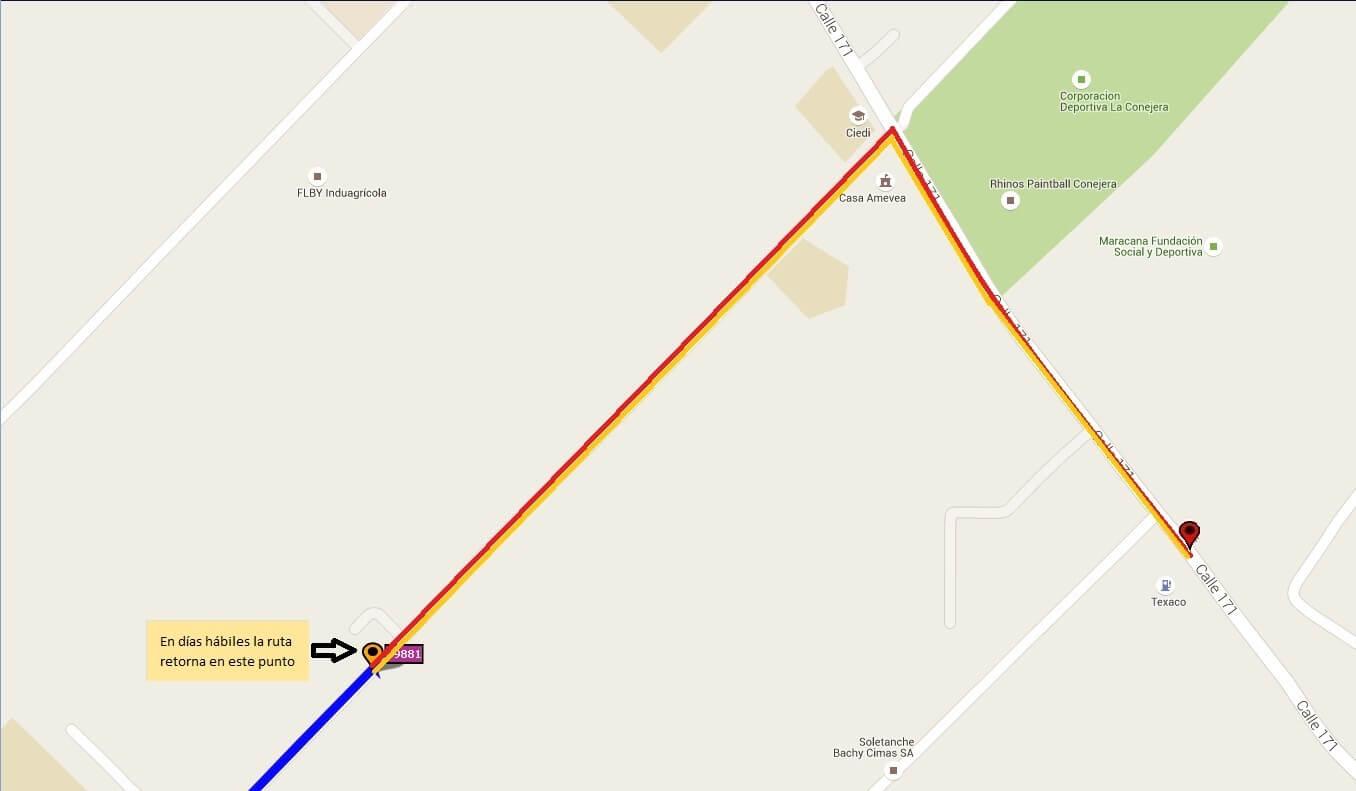 Ruta SITP: E26B Corpas ↔ Cantón Norte/Cota [Urbana]
