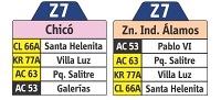 Z7, nueva ruta urbana de transporte público en Bogotá