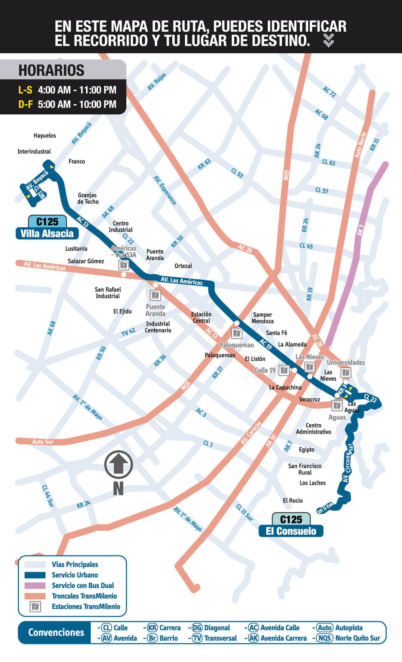 C125 mapa SITP urbana
