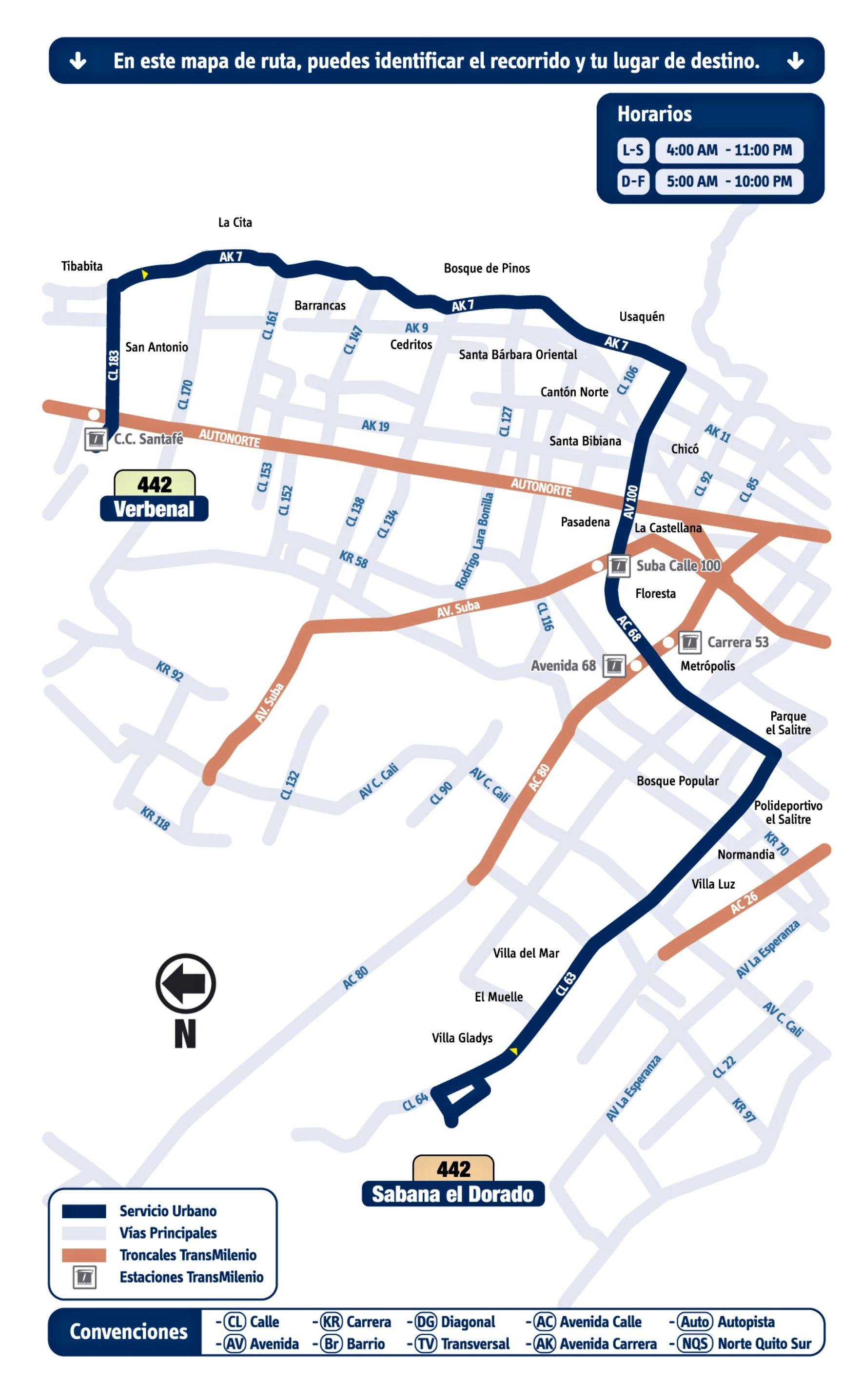 Mapa Esquema 442