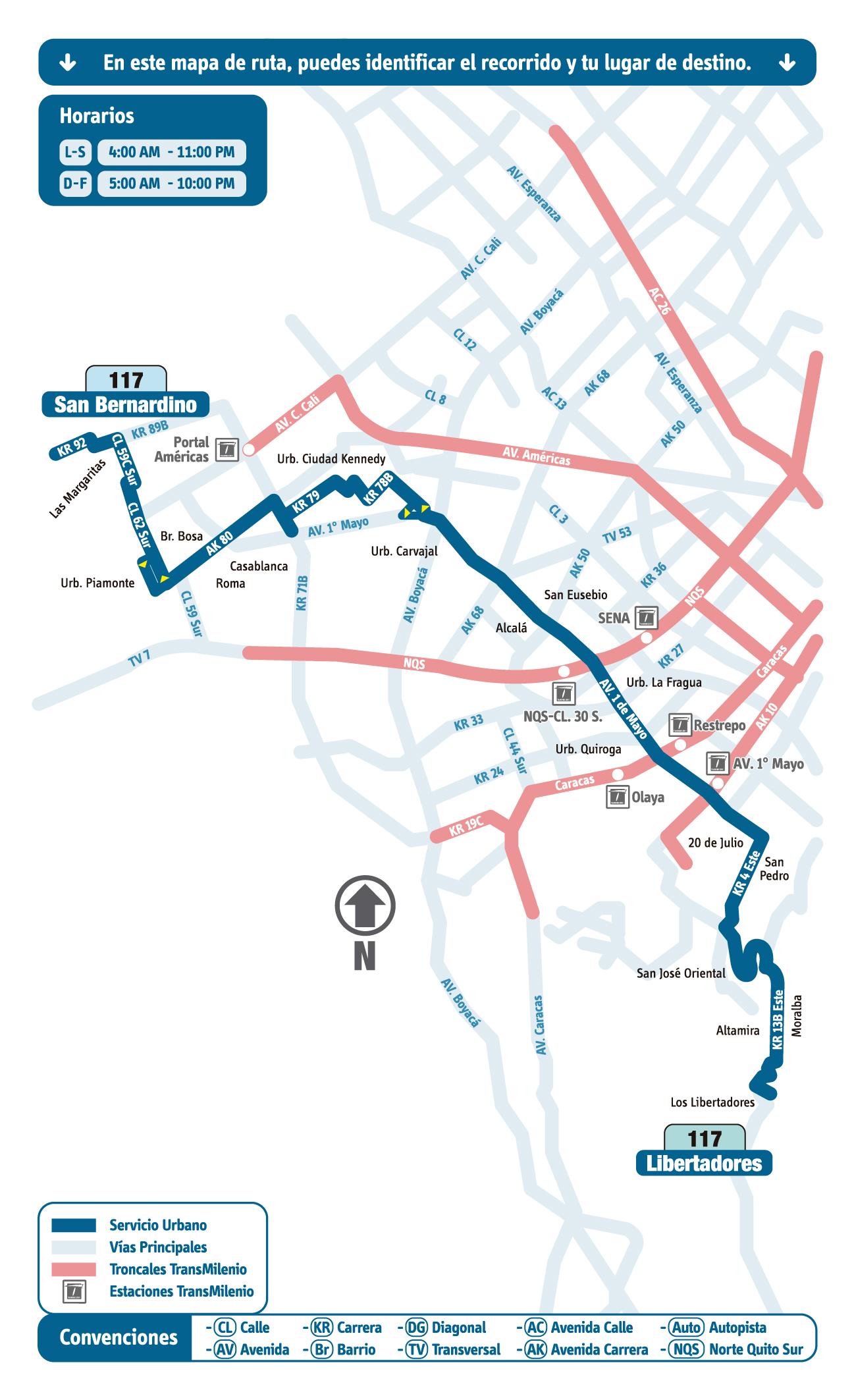 Mapa Esquema Ruta 117