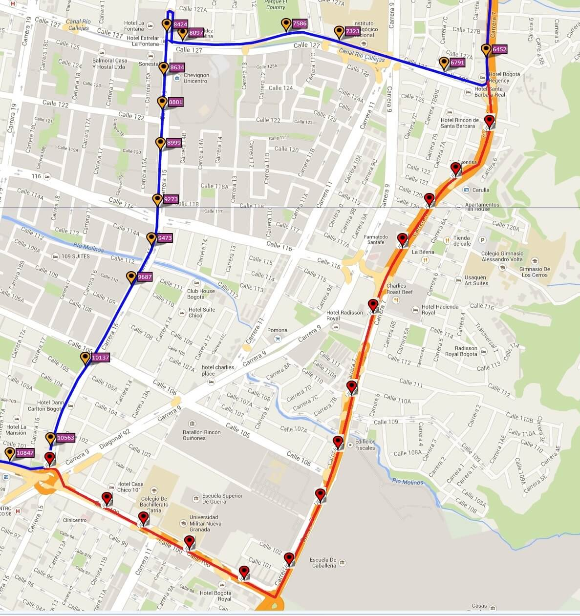 Ruta SITP: Z4 Toberín ↔ Metrovivienda [Urbana] 5