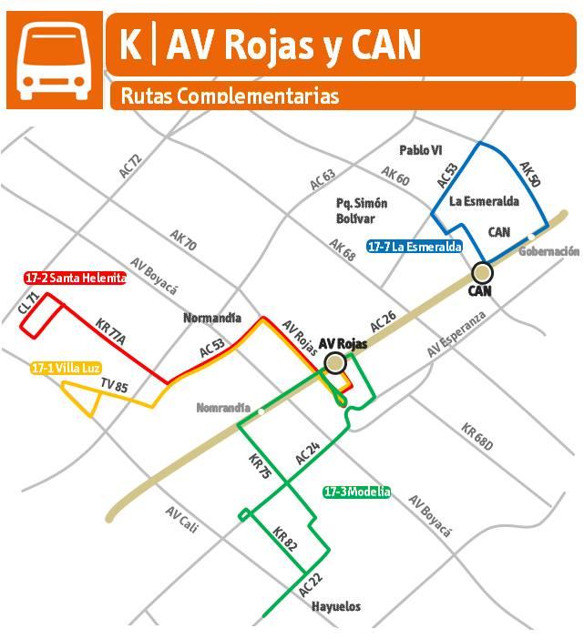 Rutas Complementarias Avenida Rojas y CAN