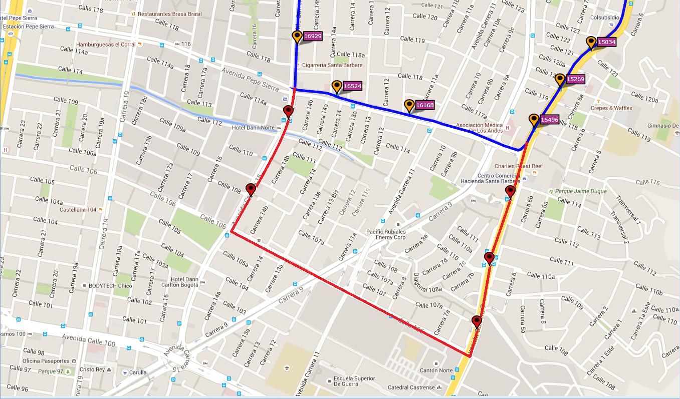 Ruta SITP: E23 Villa Gloria ↔ Santa Bárbara [Urbana] 4