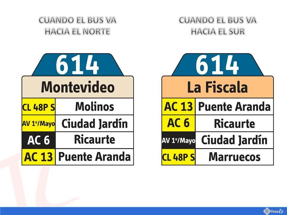 Ruta Urbana 614 - Extendida