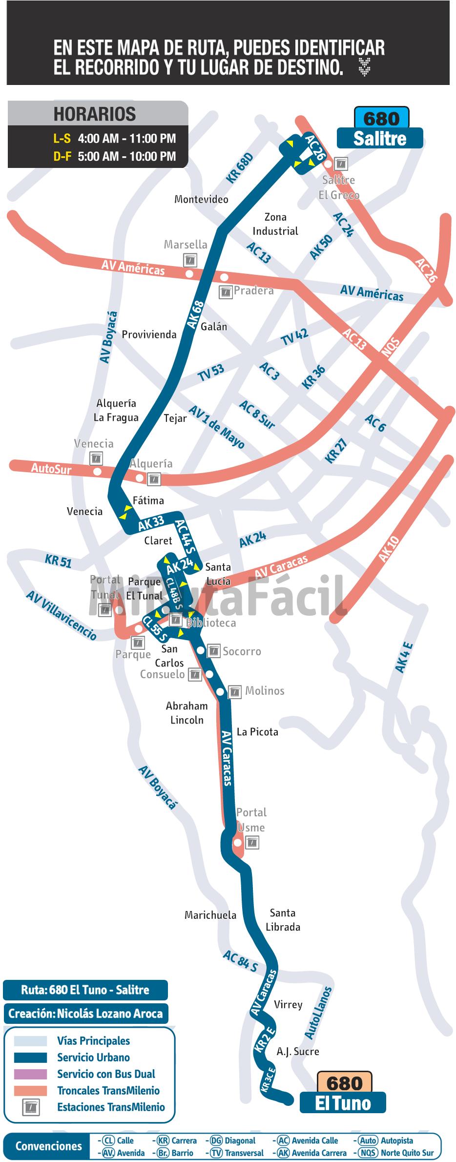 Mapa Esquemático (No Oficial)