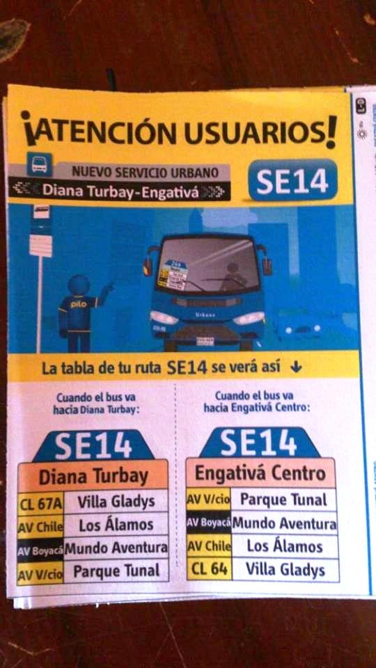 Volante ruta urbana SE14