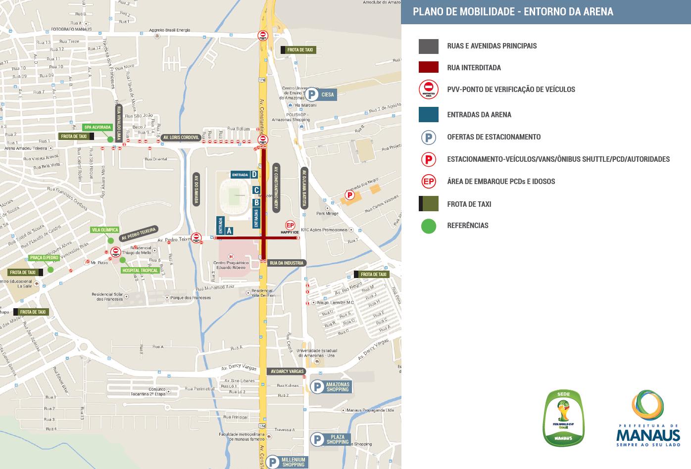 Manaus Mapa Movilidad - Brasil