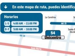 Anuncian oficialmente la ruta 54 Unicentro - Villas de Granada