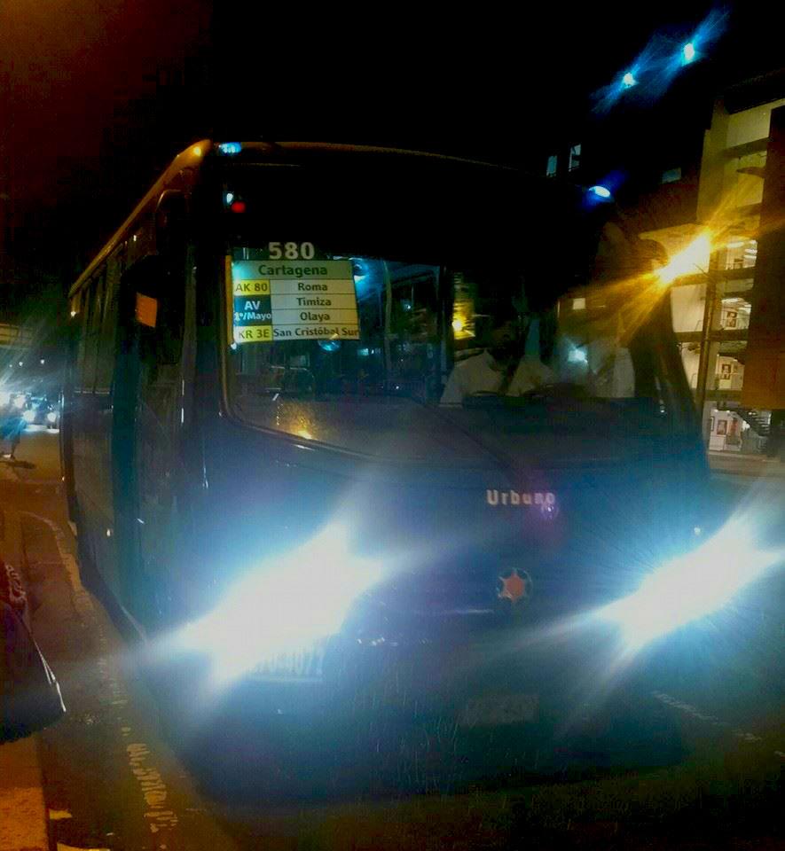 Foto de la ruta urbana 580 del SITP