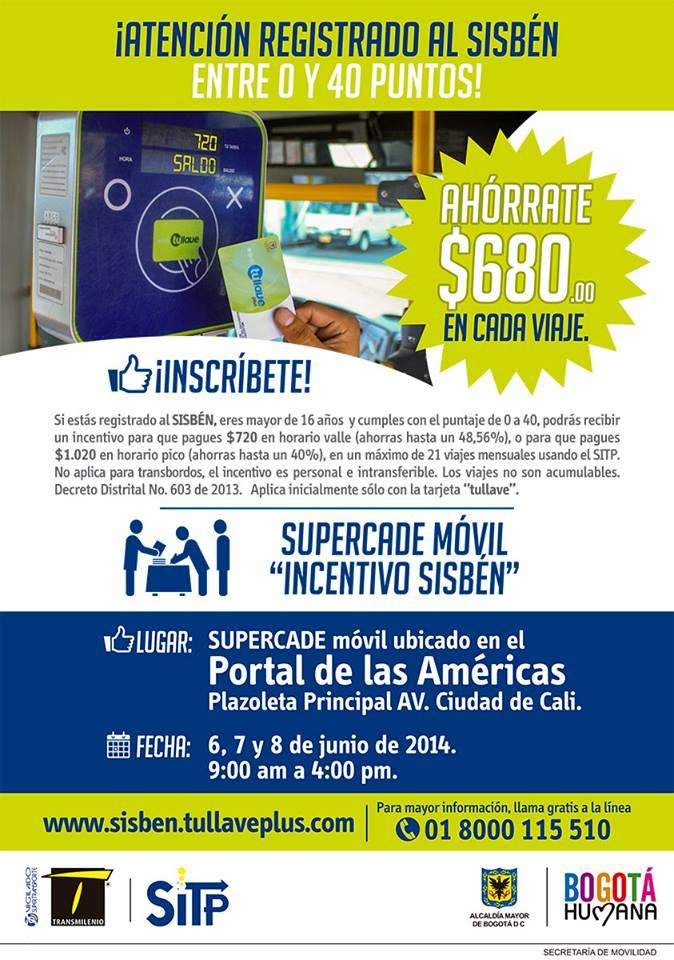 Entrega tarjetas SISBEN en el Supercade Móvil: Portal de las Américas