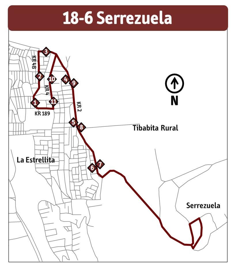 Mapa ruta ESPECIAL 18-6 Serrezuela