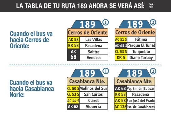 Ruta 189: Casablanca Norte ↔ Cerros de Oriente 9