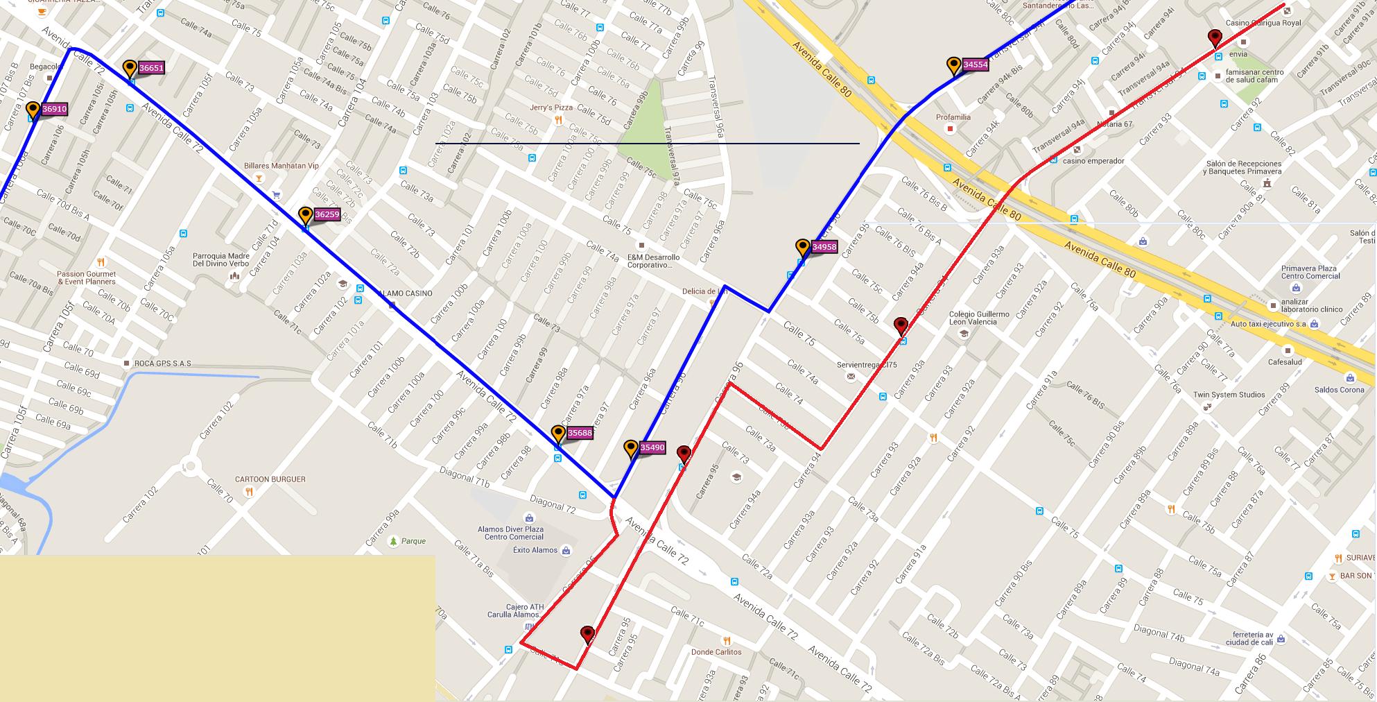 Ruta SITP: 539 Engativá Centro ↔ El Uval [Urbana] 8