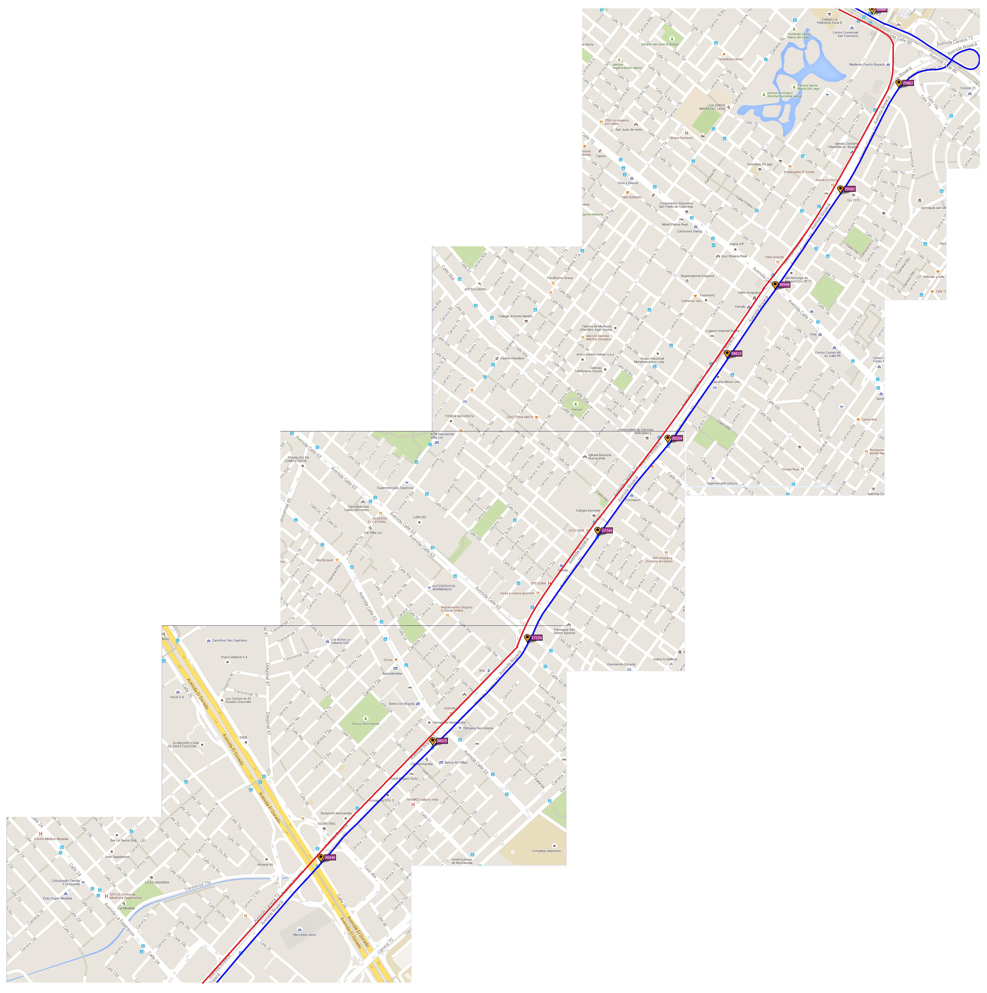 Ruta SITP: 539 Engativá Centro ↔ El Uval [Urbana] 9